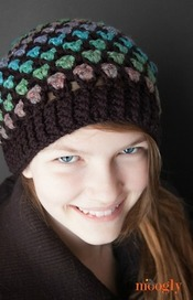 moroccan tile stitch crochet hat