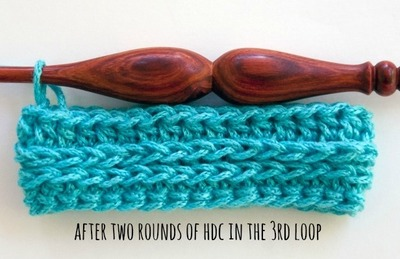 half double crochet third loop stitch