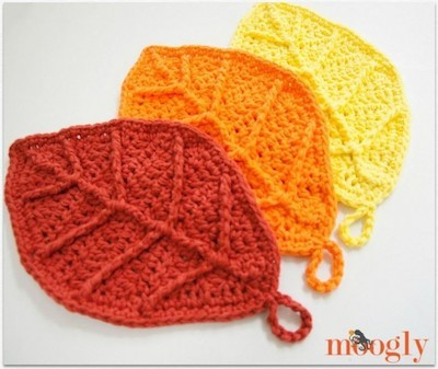 crochet leaves