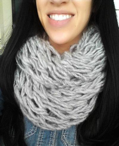Garnet Arm Knit infinity Scarf