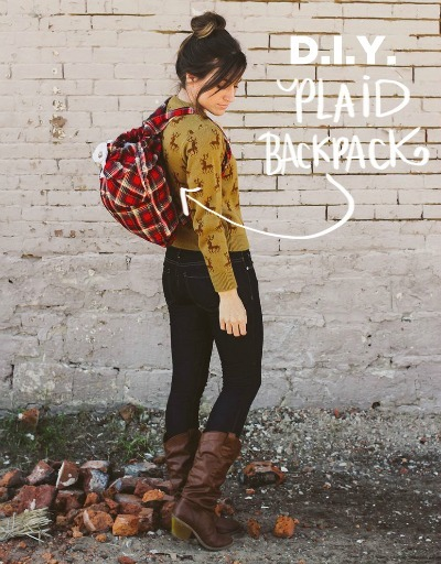 Gwen Stefani, celebrity style, plaid backpack, plaid backpack tutorial, plaid crafts