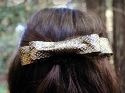 Snakeskin Hairbow