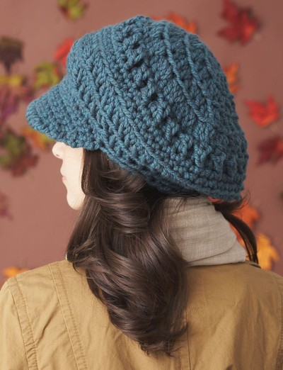 newsboy slouchy crochet hat