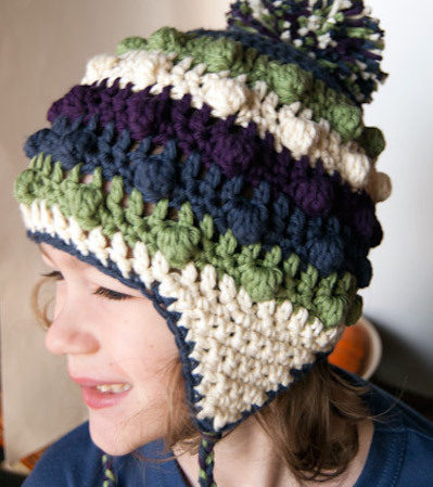 ear flap crochet hat