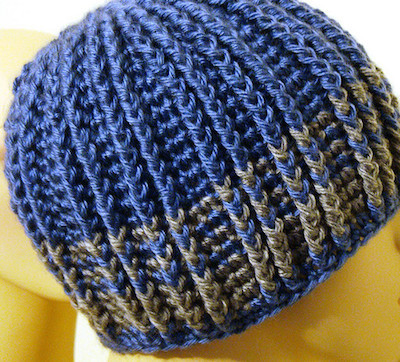 reversible crochet beanie men