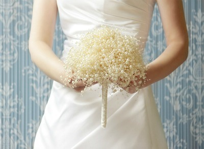 DIY Winter Wedding, alternative wedding bouquet, winter flower bouquet, pearl wedding bouquet