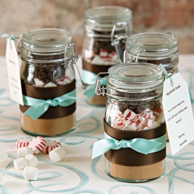 DIY Winter Wedding, wedding favors, winter wedding favors, Hot Chocolate wedding favors