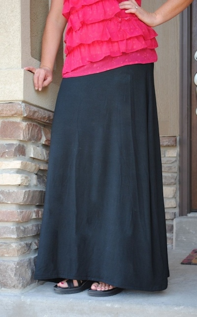 knit maxi skirt sewing pattern