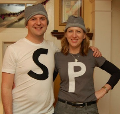 Salt u0026 Pepper homemade halloween Costume  sc 1 st  Craftfoxes : cheap easy couples costumes  - Germanpascual.Com