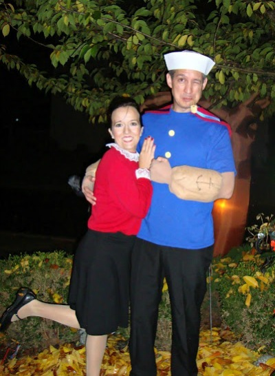 Popeye & Olive Oyl homemade halloween Costume