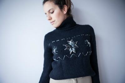 Safety Pin Sweater