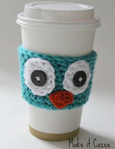 Crochet owl, Owl coffee cozy, DIY tea cozy