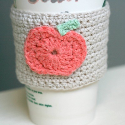 Pumpkin crochet cozy, DIY coffee cozy, Apple coffee cozy