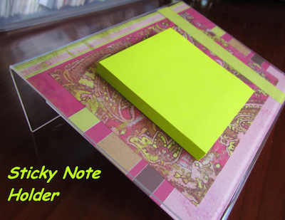 sticky note holder frame diy