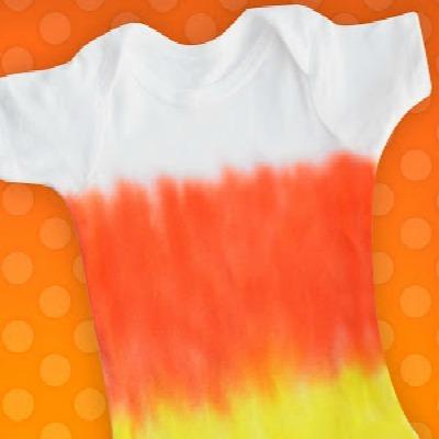 candy corn tie dye onesie