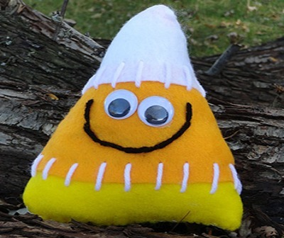 candy corn softie pillow