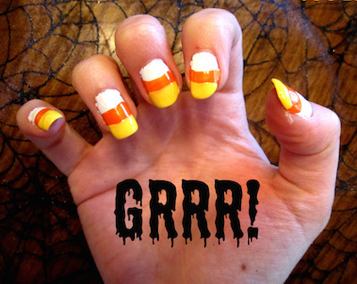 candy corn nail polish