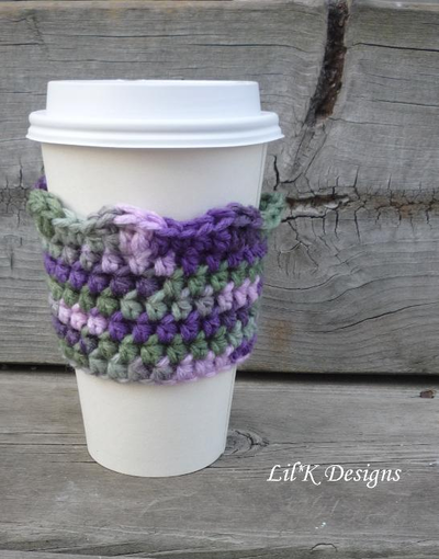 Wavy Crochet Coffee Cozy
