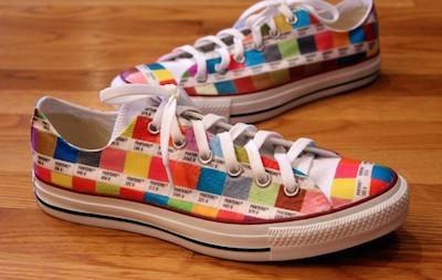 pantone chip sneakers