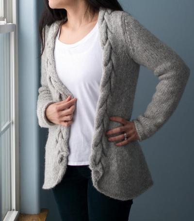 Chunky Cabled Knit Cardigan Pattern