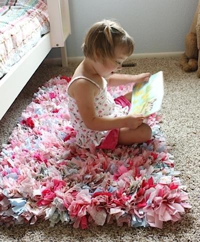 fabric diy rag rug