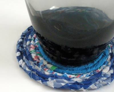 fabric scrap coiled coaster
