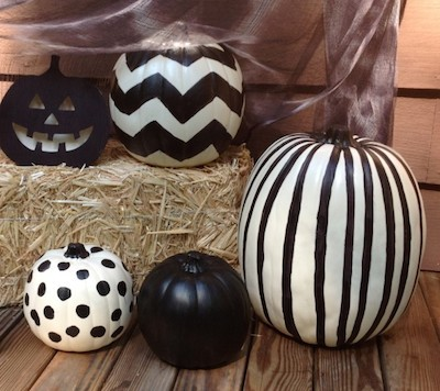 black dyed pumpkins