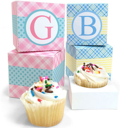 Claudine Hellmuth free printable cupcake box