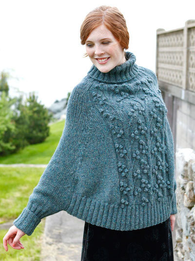 ponco sweater knitting pattern