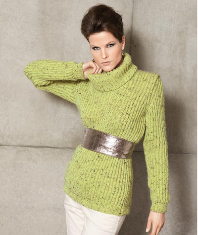 ribbed turtleneck knit sweater pattern