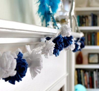 hannukah fleece pompom garland