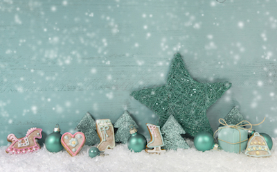 mint green holiday decorations
