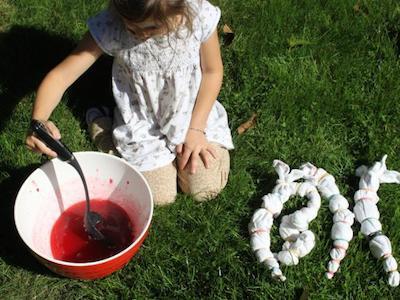 cranberry tie dye napkins