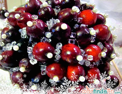 cranberry ornament ball