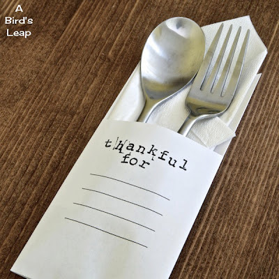 Paper Folded Utensil Holder and Name Card