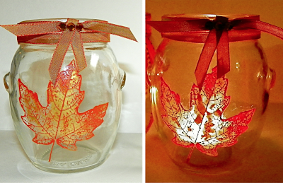 Screenprinted Glass Votive Jars