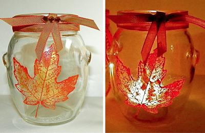 Screenprinted Glass Votive Jars
