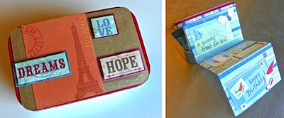 altered altoids tin gift card holder