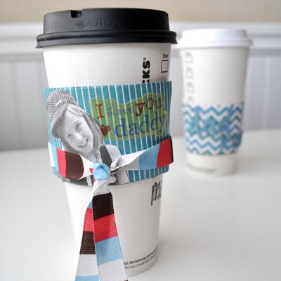 Boat Picture Coffee Cup Cozy