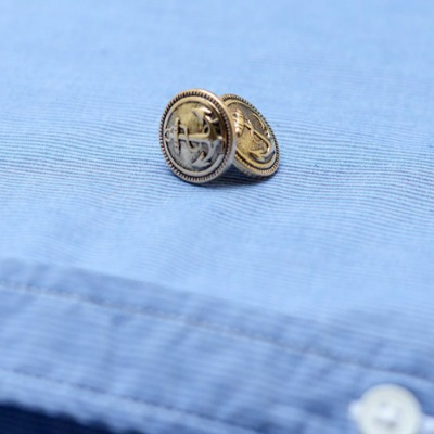 Anchor Button Cuff Links