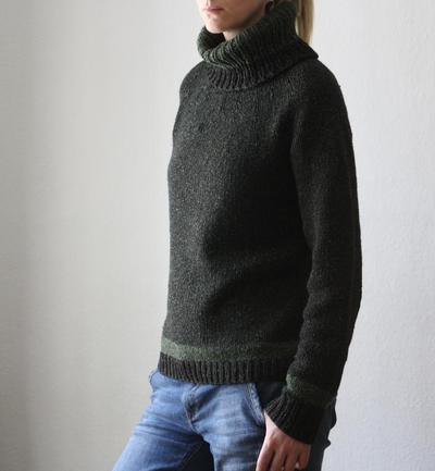 Heike Turtleneck Sweater Knitting Pattern