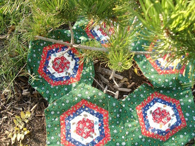 hexagon fabric tree skirt