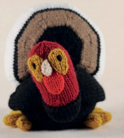 turkey softie, animal plushie, DIY knitting project