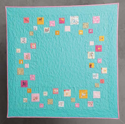 improv pieced baby quilt