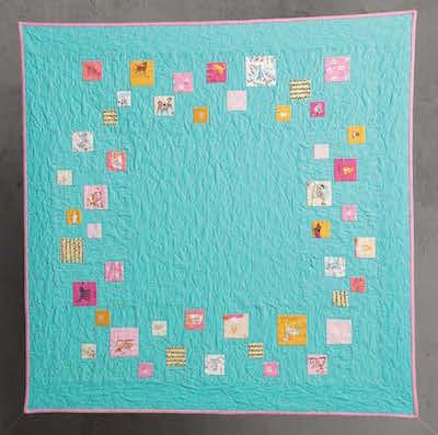 improv pieced baby quilt