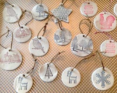 salt dough stamped christmas gift tags