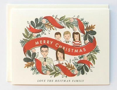 cartoon avatar holiday card