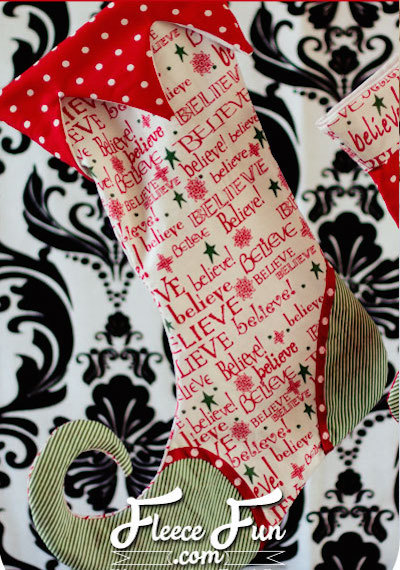 elf shoe christmas stocking