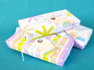 Washi tape wrapped packages