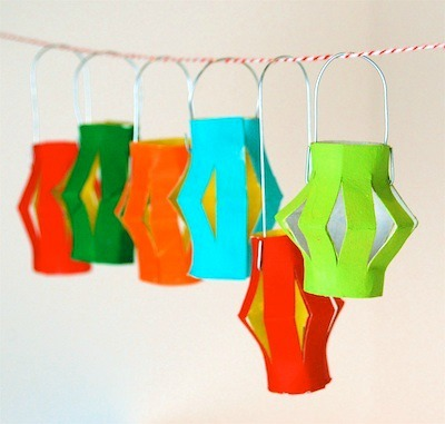 Colorful Hanging Paper Lanterns